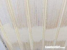 How to hide seams in Beadboard - Sawdust Girl® Shiplap Paneling, Beadboard Wainscoting, White Beadboard, Bathroom Colors, Bathroom Sets, Bathrooms, Wainscoating Ideas, How To Install Beadboard, Bead Board Walls