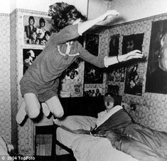 Enfield Poltergeist: In the 70's an 11 year old girl seemed to be possessed. She levitated and projected a voice not her own. Other activity in the house included moving furniture and objects through the air, cold breezes and physical attacks. Most of the activity was centered around the girl. She would go into violent trances while others in the family were reported to be hurled from their own beds at night. The activity stopped when the family moved. The new family reported no activity.