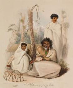 E Wai, his wife. Na Horua or Tom Street, (elder brother of Rauparaha). Tuarau or Kopai (his son), at Kahotea near Porirua. Fine Art Prints, Framed Prints, Canvas Prints, Polynesian People, Houses In France, Maori Art, History Online, African History, Online Images
