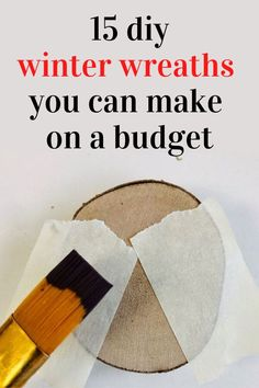 Easy winter wreath ideas for cheap. how to make a winter wreath for front door on a budget with dollar tree items. #diy #wreath #winter
