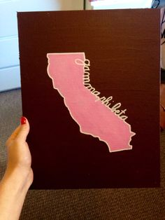 Gamma Phi Beta state canvas for California