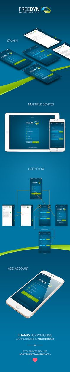 Design for iPhone and iPad version of FreeDyn app. My work has focused on improving user experience by redesigning the userflow. See more of my work here: https://www.behance.net/alessio_defeudis