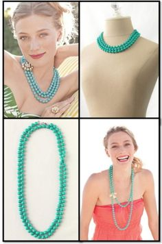 Stella and Dot- different looks with turquoise beads www.stelladot.com/samyalung