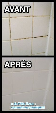 Want a simple trick for cleaning grout in your shower, bath, or kitchen? This is the absolute BEST homemade grout cleaner; just baking soda and bleach!