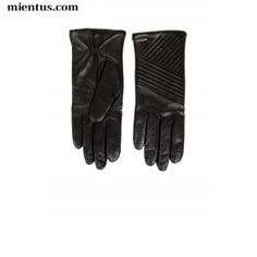 HUGO Quilted Leather Gloves