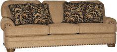 Mayo Furniture 3620F Fabric Sofa - Knickknack Old Gold