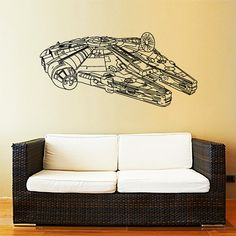 Millennium Falcon Wall Decal Vinyl Sticker by IncredibleDecals
