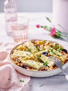 Healthy Recepies, Halloumi, Camembert Cheese, Healthy Life, Foodies, Vegetarian Recipes, Orzo, Bbq, Lunch