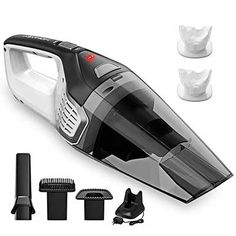 Rechargeable Quick Charge Homasy Upgraded Handheld Vacuum Cleaner Cordless Silver Wet Dry Vacuum Cleaner for Pet Hair Home and Car Cleaning Powerful Lightweight Cyclonic Suction Cleaner