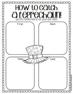 How to Catch a Leprechaun Sequencing Writing Worksheet for St. Patricks Day