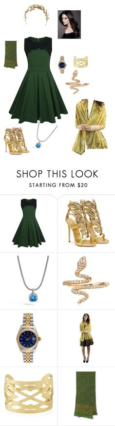 """Loki formal (Avengers)"" by elenafervic ❤ liked on Polyvore featuring WithChic, Giuseppe Zanotti, John Hardy, Rolex, Panacea, NOVICA and Laurel Wreath Collection"