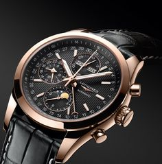 #Longines Conquest Classic Moonphase - 18k rose gold case - black dial L2.798.8.52.3