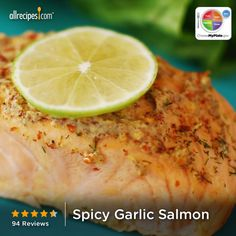 Spicy Garlic Salmon from Allrecipes.com #myplate #protein