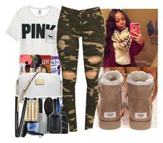 """""""Untitled #1146"""" by chynaloggins ❤ liked on Polyvore featuring Victoria's Secret, Monkey Ride and UGG"""
