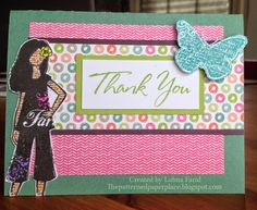 The Patterned Paper Place: Thank You Dreamer Card