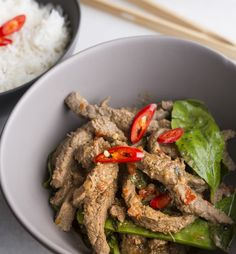 Beef or chicken Basil - Cooking with Tenina cook for 5 mins more with chicken