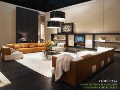 Soho Sectional Sofa Sectional Sofa, Couch, Conference Room, Flat Screen, Table, Soho, Fendi, Furniture, Home Decor