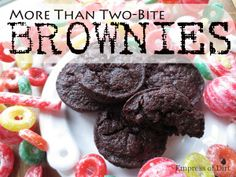 The Best More Than Two-Bite Brownies. Give And Be Loved. - Empress of Dirt Two Bite Brownies, Best Brownies, Brownie Recipes, Chocolate Recipes, Cookie Recipes, Best Brownie Recipe In The World, Baking Recipes, Snack Recipes, Dessert Recipes