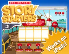 FREE Online Story Starters~  Students select a category and then pull the lever to select random story elements.  Each can be changed.  Each step offers choices and encourages creative thinking!  Lots of fun!