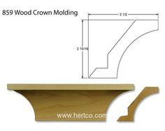 Crown moulding example, Wood Moldings
