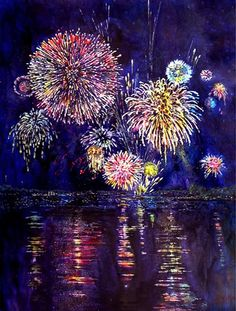 Sandy is my favorite watercolor teacher, ad i traveled to france with her in 2012 to learn about paining on Yupo.   wonderful experience!     Sandy Maudlin: Fireworks