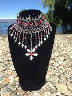 Exotic necklace, took me a while to make, but worth it in the end :-) http://trina-ann-designs.myshopify.com/