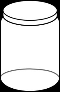 White Jar Clip Art - can edit this and use it for insect catch math game
