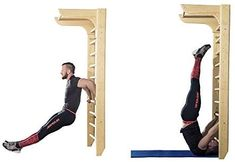Bar2fit Wooden Wall Bars - Stall Bars For Home Fitness and Exercising: Amazon.co.uk: Sports & Outdoors
