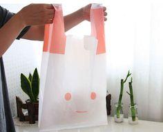 Pink Rabbit Plastic Bag set (10 bags). $3,50, via Etsy.