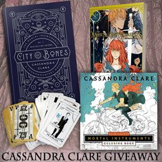 Hey Cassandra Clare fans! Here's a giveaway just for you. One lucky reader will win pre-orders of the upcoming 10th anniversary edition of City of Bones (with new bonus stories!) and the new Mortal Instruments graphic novel, the Mortal Instruments coloring book, and a Mortal Instruments tarot set. Open worldwide (see rules for details)! This giveaway is sponsored by YA authors S.A. Larsen (Marked Beauty), Lily Velez (The Connelly Boys), Emory Gayle (Water), Rhonda Sermon (The Midnight…