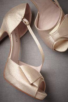 Golden peep-toes