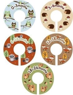 The Original Baby Closet Dividers Woodland Forest Friends