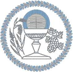Holy Eucharist Embroidery Design