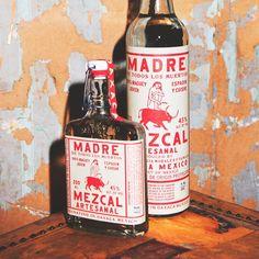 New Mezcal coming To St. Food Packaging Design, Beverage Packaging, Bottle Packaging, Bottle Labels, Liquor Shop, Liquor Bottles, Glass Bottles, Vintage Typography, Typography Design