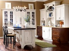 Furniture looks - island addition - Kitchen Updates That Pay Back - Traditional Home®