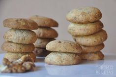 Galletas de nueces y chocolate - http://www.thermorecetas.com/galletas-nueces-chocolate/