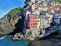 Scenic town of Riomaggiore, Cinque Terre, Italy.
