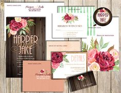 Your place to buy and sell all things handmade Wedding Invitation Packages, Burgundy Wedding Invitations, Watercolor Wedding Invitations, Wedding Invitation Suite, Floral Invitation, Glitter Invitations, Custom Printed Envelopes, Glitter Cards, Burgundy And Gold