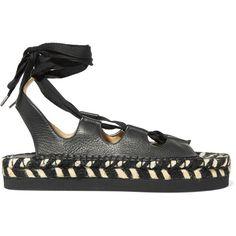 4a56c1a67744 Paloma Barceló - Anita Lace-up Leather Espadrille Sandals (2