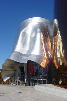 The Experience Music Project (EMP) Museum, Seattle. Designed by Frank O. Gehry, opened in 2000. Deconstructivism.