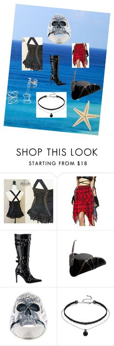 """""""girl pirate costume"""" by nymph337 on Polyvore featuring Ghost of Harlem, Funtasma, Maison Recuerdo and Charlotte Russe"""