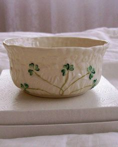 Vintage Belleek China Candy or Trinket Bowl by GiftsFromFlutters, $39.95