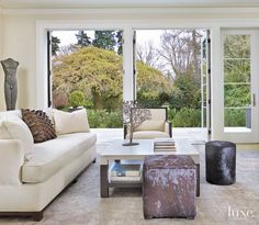 Modern Media Room with Custom Bookcase | LuxeSource | Luxe Magazine - The Luxury Home Redefined