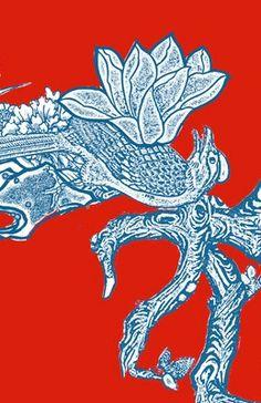 Floral Dragon Detail