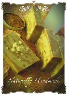 handmade face soap with kefir, smashed mastic tears, tumeric
