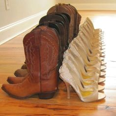 Love this idea!! Heels for the ceremony Cowboy boots for the reception