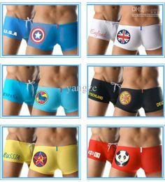 These just made me laugh.    Wholesale Men Boys Boxer Swimwear Swimming Trunks Shorts National Flag Fashion Logo, Free shipping, $7.63-10.97/Piece | DHgate