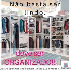 Mais uma vez não basta um projeto lindo se não for bem organizado. Por isso organizar é preciso sempre!! #ligiapessoaorganizer #closet #organizacao #ficaadica