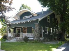Arts & Crafts-style house, built in 1914 and near downtown Saratoga Springs, NY