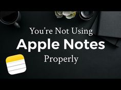 How To Best Use Apple Notes (iPhone) - YouTube Apple Notes, Iphone Pro, Apple Laptop, Good Advice, Good To Know, Youtube, Ad Hoc, Computer Tips, Household Tips